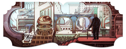 Google Logo: 112th Birthday of Jorge Luis Borges - Argentine writer and poet